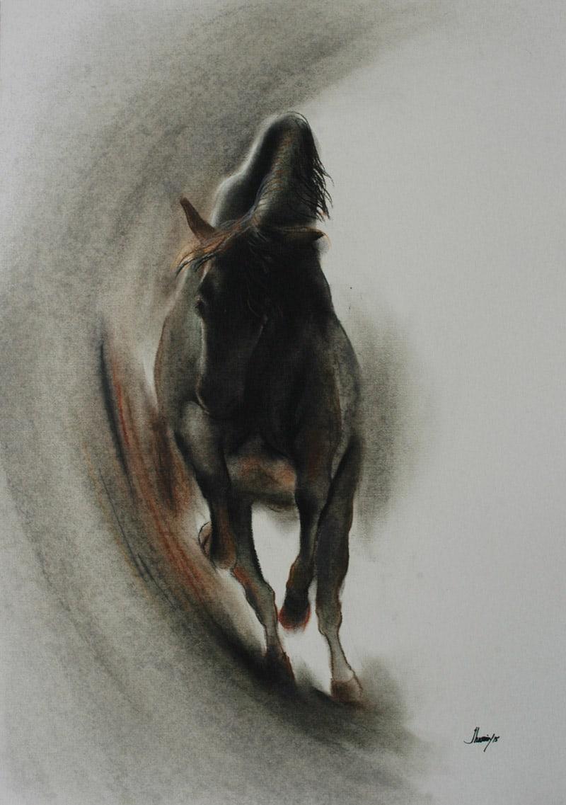 Jahangir Hossain Horse Painting