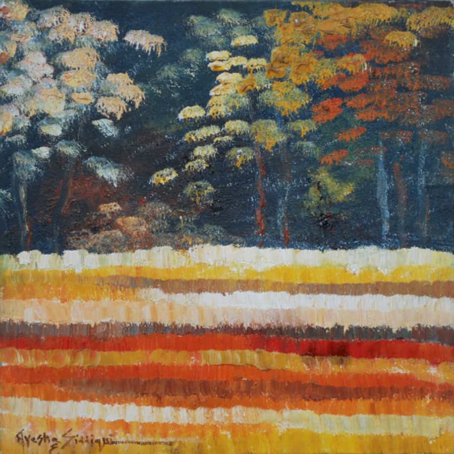 Ayesha Sidduiqui Landscape Paintings 12 x 12 Clifton Art Gallery