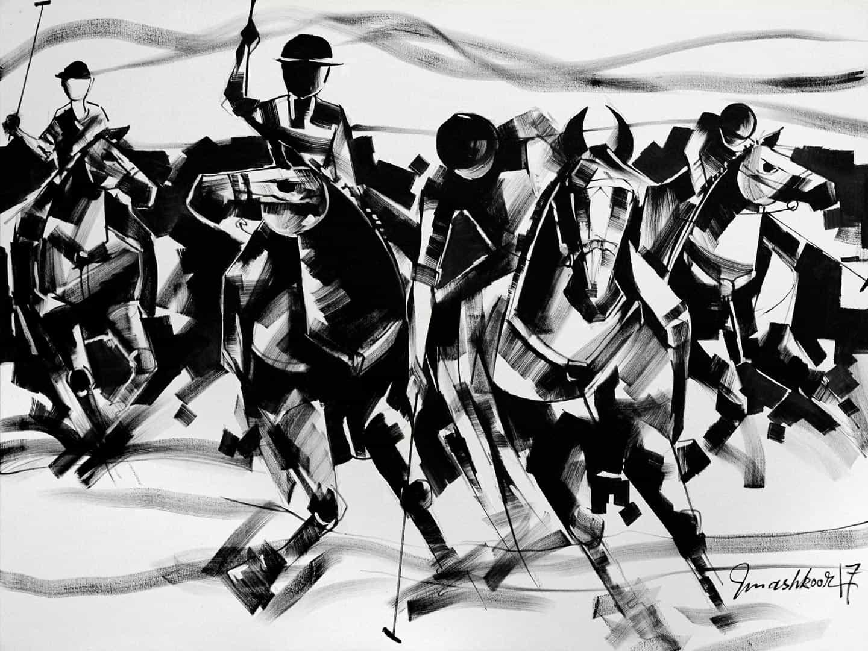 Mashkoor Raza Polo Painting