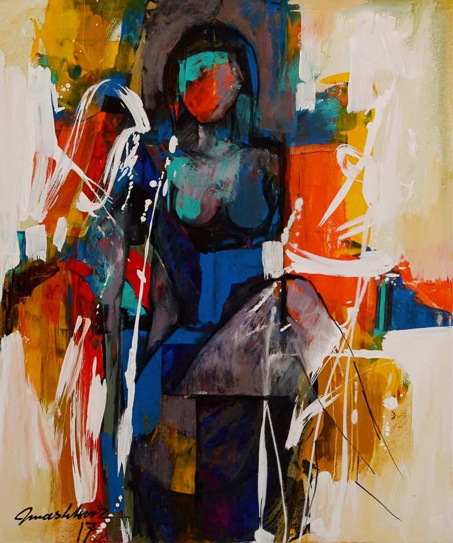 Mashkoor Raza Woman Painting