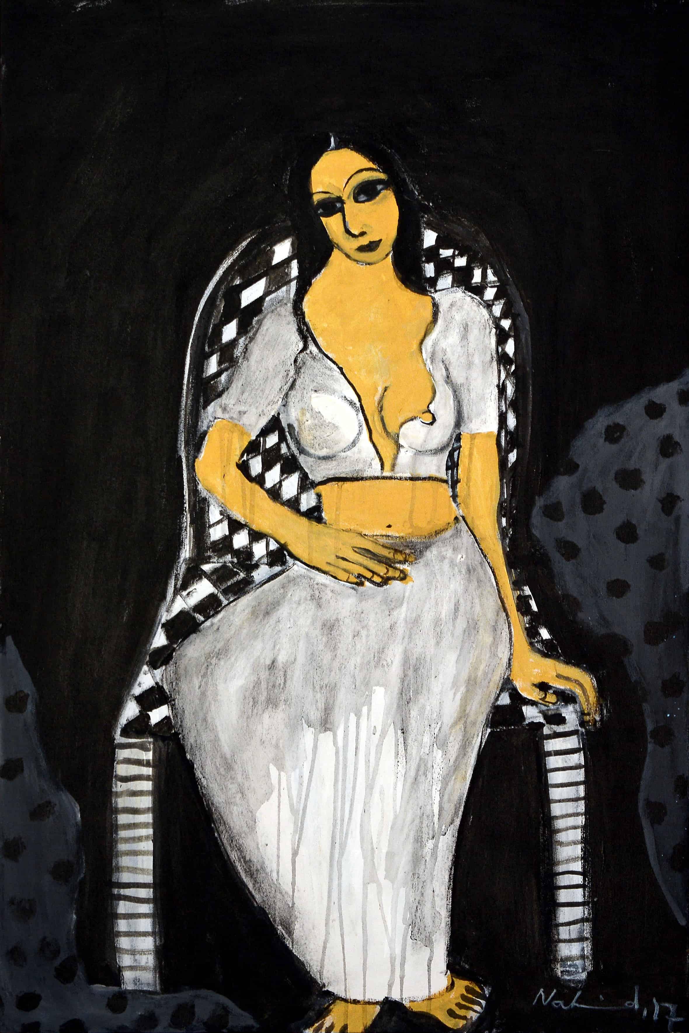 Acrylic Painting by Pakistani Artist Nahid Raza Size 24x36