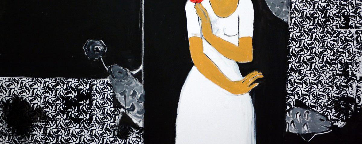 Oil Painting by Pakistani Artist Nahid Raza Size 36 x 48