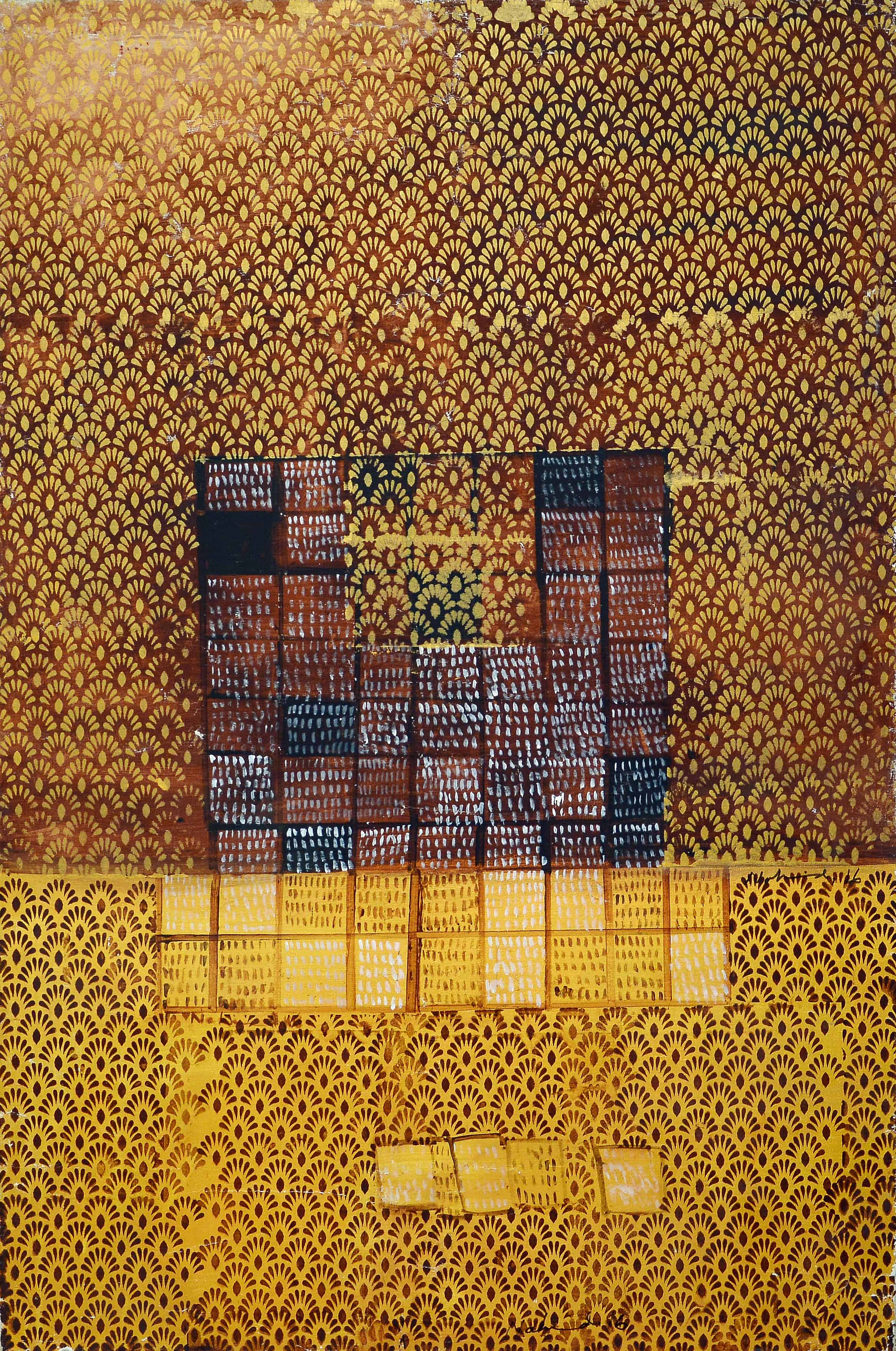 Acrylic Painting by Pakistani Artist Nahid Raza Size 36 x 52