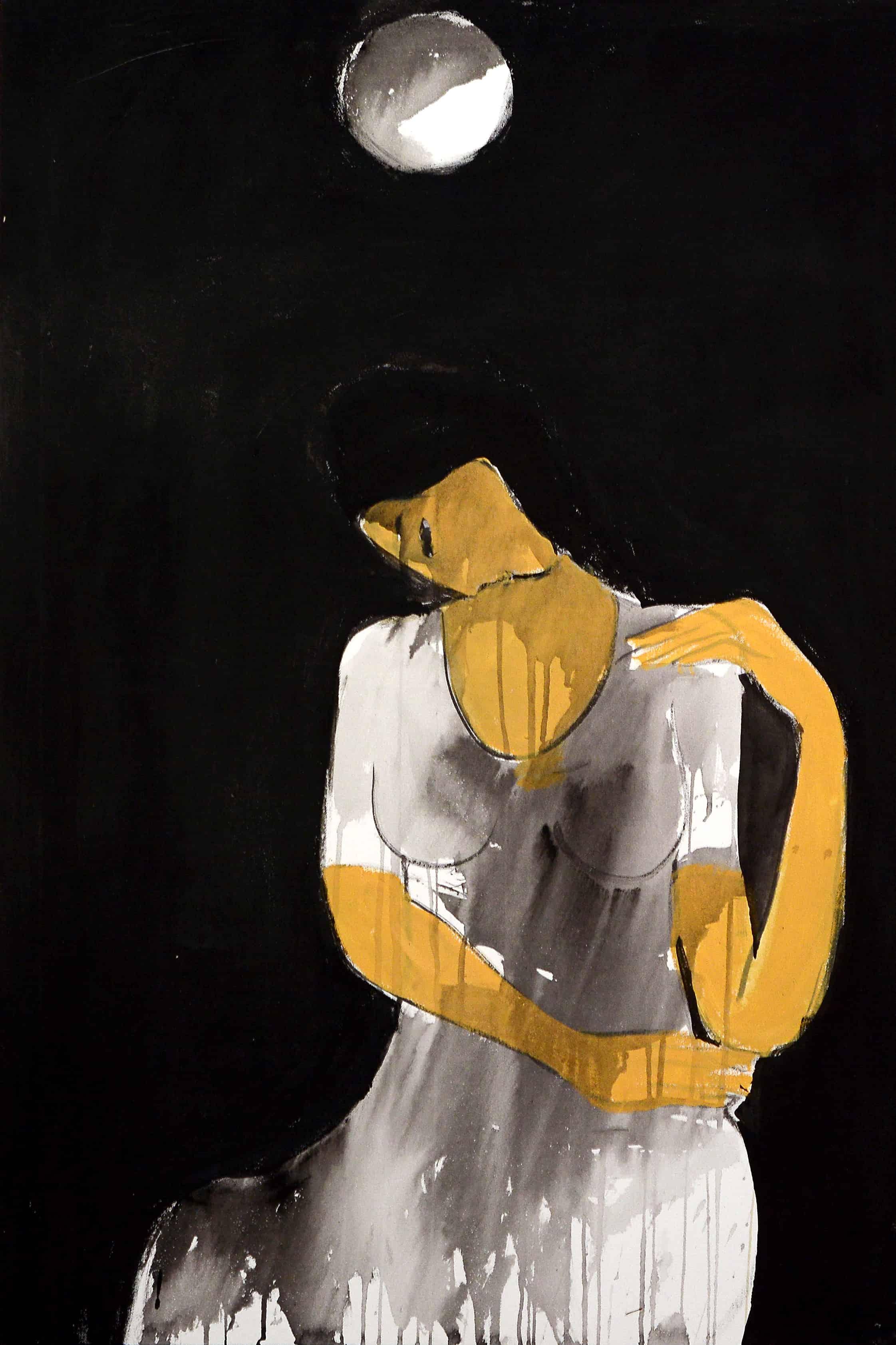 Acrylic Painting by Pakistani Artist Nahid Raza Size 24 x 36