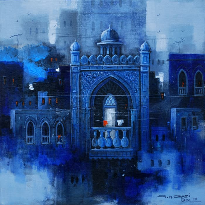 GN Qazi Oil Canvas Painting